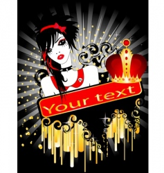 punk poster vector image