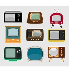 set of vintage tvs vector image
