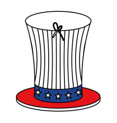 United states of america hat vector