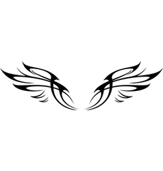 WING SET vector image