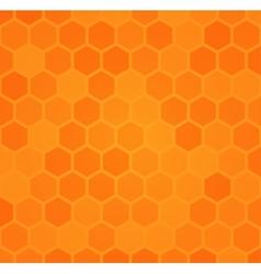 Abstract hexagonal honeycomb background vector image