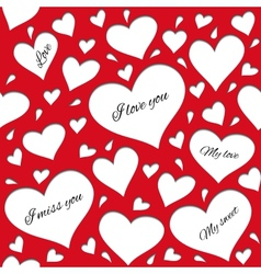 Red pattern for lovers vector image