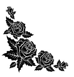 roses silhouette pattern vector image