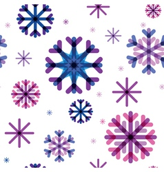 seamless pattern from color beautiful snowflakes vector image vector image