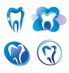 teeth logo set vector image