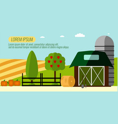 agriculture farming and rural landscape vector image