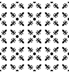 Fleur de lis in diagonal arrangement with dot in vector image