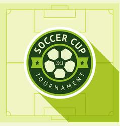 football green badge vector image