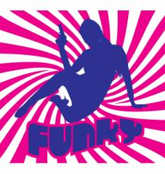 funky vector image