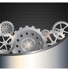 Industrial background with gears vector image