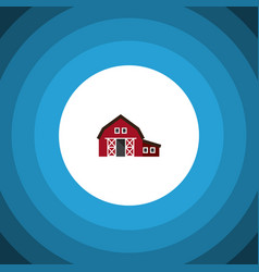 Isolated shed flat icon ranch element can vector