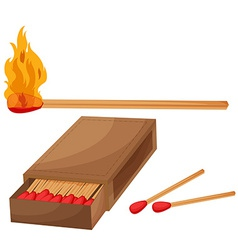 Matches vector image
