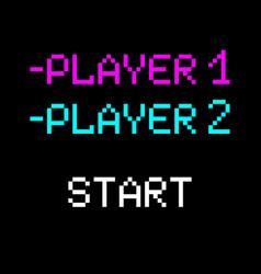 8 bit player vector image