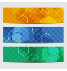 Abstract geometric invitation or banner vector