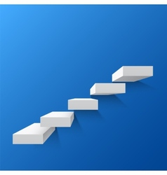 Blue abstract background with white stairs vector image vector image