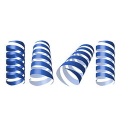 blue swirl ribbons vector image