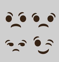 emoticon cartoon face icon vector image vector image