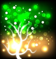 glowing autumn tree vector image