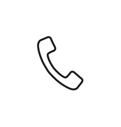 handset of icon vector image