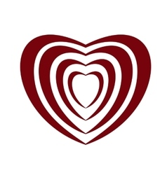 heart icon isolated vector image vector image