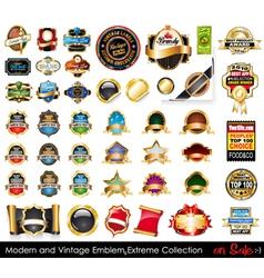 modern and vintage emblems vector image vector image