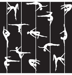 pole dancer silhouette vector image