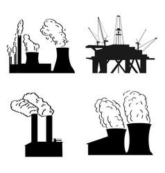 set of pwer plants vector image
