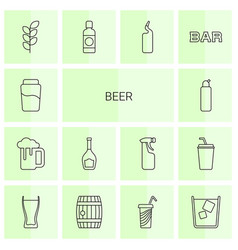 14 beer icons vector