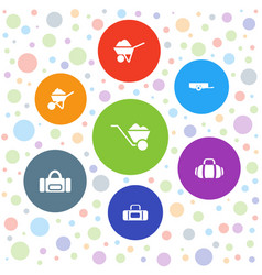 7 carry icons vector