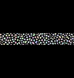 abstract banner of small pieces of paper vector image
