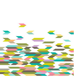 Abstract geometric colorful mosaic pattern vector