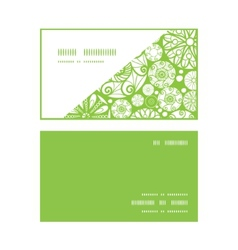 abstract green and white circles horizontal corner vector image