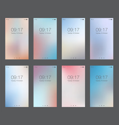 Abstract light blur backgrounds for smartphone vector