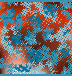 Abstract modern pixelated blue and red background vector