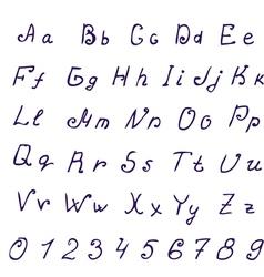 alphabet ink vector image vector image