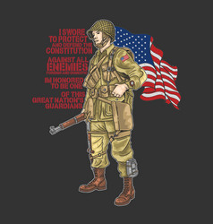 American world war soldier vector