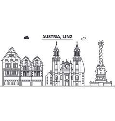 Austria linz line skyline vector