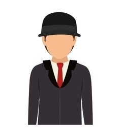 Avatar man wearing suit and tie vector