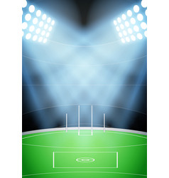 background for australian football stadium vector image