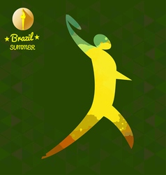 Brazil summer sport card with an yellow abstract d vector
