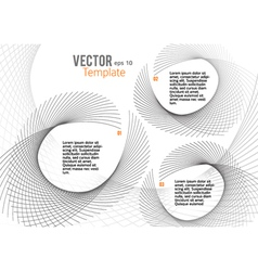 business template page leaflet unusual vector image