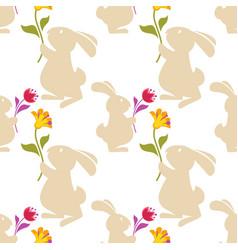 cartoon seamless pattern background vector image
