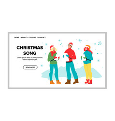 Christmas song vocal performing singers vector