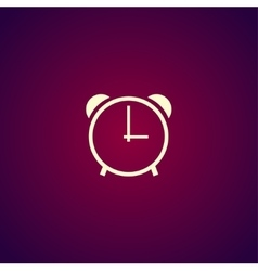 clock icon Flat design style vector image