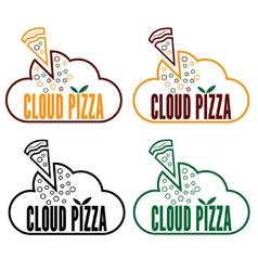 cloud pizza vector image