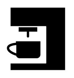 Coffee machine solid icon coffee maker vector