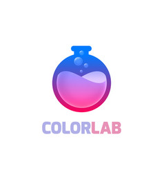 color lab logo template vector image