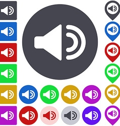 Color volume up icon set vector