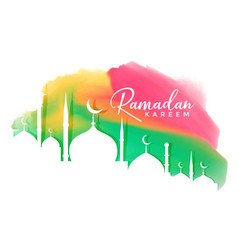 Colorful ramadan kareem festival design background vector