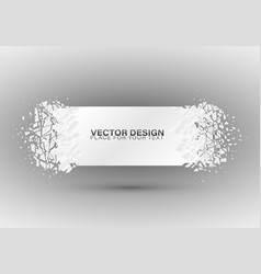 crystal frozen structure vector image